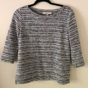 Loft Tweed Boatneck Sweater